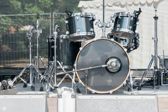 drum set on the concert stage Royalty Free Stock Photos