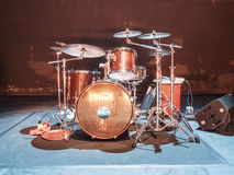 Drum set. For concert to full size format royalty free stock photography
