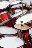 The drum set and cymbals Royalty Free Stock Photography