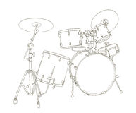 Drum set drawing Stock Photos