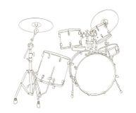 Drum set drawing Stock Photos
