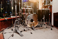 Drum set and drum sticks Royalty Free Stock Photo