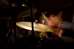 Drum set. With focus on hi-hat cymbal Stock Image