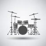 Drum set icon Stock Photography