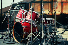 Drum set on open air Stock Photo