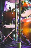 Drum set on a stage Royalty Free Stock Photo