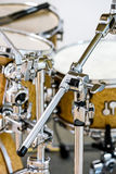Drum set on stage before concert Stock Images