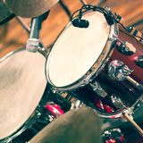 Drum set on stage Stock Photos