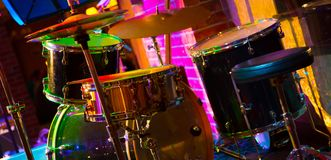 Drum set on the stage Royalty Free Stock Photo