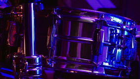 Drum set in the stage stock video footage