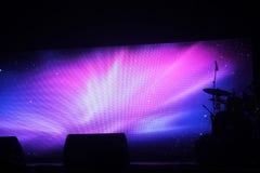 Drum set on stage Stock Photos