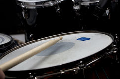 Drum set and stick Stock Image