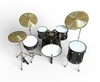 Drum Set - Top View Stock Images