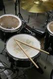 Drum set in training room. Music equipment in training room Stock Images