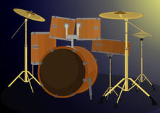 Drum Set Vector Illustration. Royalty Free Stock Images