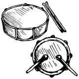 Drum set Royalty Free Stock Photos