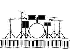 Drum set in vector Stock Image