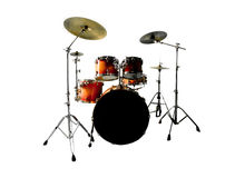 Drum Set on White Royalty Free Stock Photography