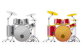 Drum sets. Royalty Free Stock Photo