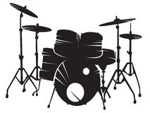 Drum setting Royalty Free Stock Image