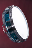 Drum Snare Blue Isolated on Red Stock Image