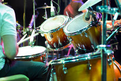 Drum кit on the stage Royalty Free Stock Photos