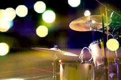 Drum and stage concert Stock Photo