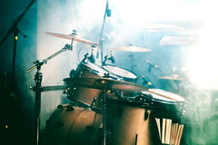 Drum on stage Royalty Free Stock Photo