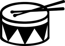 Drum with stick. Music vector Royalty Free Stock Image
