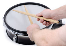 Drum and sticks Royalty Free Stock Photography