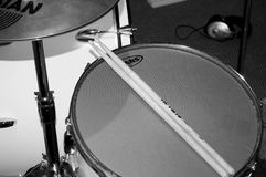 Drum sticks and breakables, scarborough studio stock photography