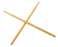Drum sticks do from wood. Isolated on white background stock images