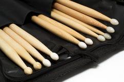 Drum sticks. Set pairs in a stick bag royalty free stock photos