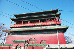 Drum tower in Beijing. Traditional architecture in Beijing drum tower royalty free stock photography