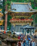 Drum Tower(Koro) at Tosho-gu shrine in Nikko, Japan. NIKKO, JAPAN - NOVEMBER 17, 2015: Koro - A drum tower in front of Yomeimon gate of Tosho-gu shrine stock photos