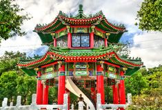 Drum Tower at National Revolutionary Martyrs Shrine in Taipei, Taiwan royalty free stock photography