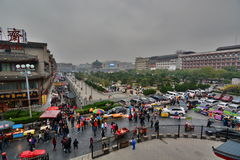 Drum Tower square. Xi'An. China Royalty Free Stock Photography
