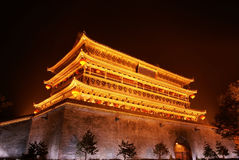 Drum tower in xi'an of china Royalty Free Stock Photo
