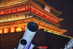 Drum Tower and telescope Stock Photo