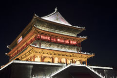 Drum Tower of Xi`an, downtown Xi`an was erected in 1380. Shaanxi Royalty Free Stock Photos