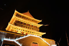 Drum-tower in xian Royalty Free Stock Image