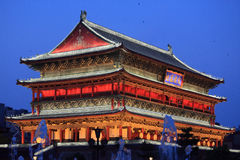 Drum tower in Xian Royalty Free Stock Photography