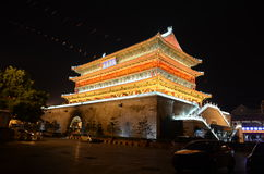 The Drum Tower in Xian Stock Image