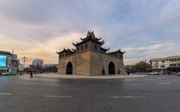 Drum Tower of Yinchuan stock image