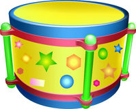 Drum, toy. Drum colorful toy for children Royalty Free Stock Images