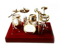 Drum toy figure Royalty Free Stock Photography