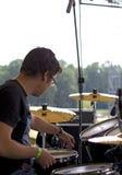 Drum tuning stock image