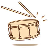 Drum vector. Illustration of a drum isolated on white background + vector eps file Royalty Free Stock Photo