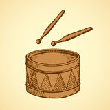 Drum. Vector drawing Royalty Free Stock Photos