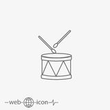 Drum vector icon Royalty Free Stock Photo